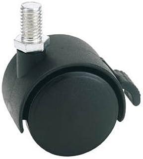 Draper 65465 40mm Diameter Twin Nylon Castor met Rem - S.W.L 25Kg