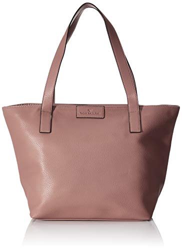 TOM TAILOR Shopper Damen, Miri Zip, Pink (Old Rosé), 36x28x17.5 cm, TOM TAILOR Schultertasche, Handtaschen Damen
