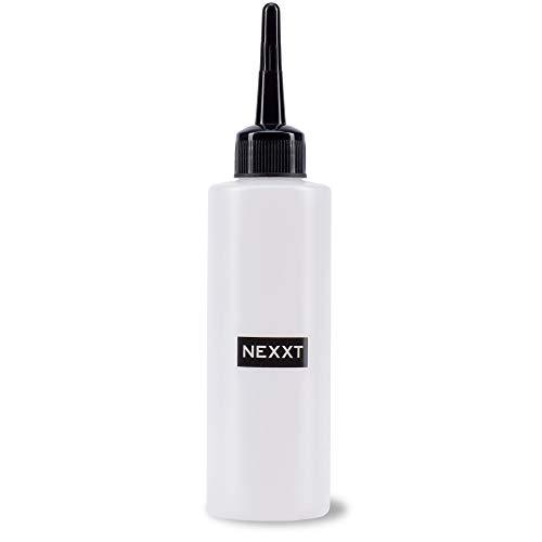 Nexxt Applikations-Flasche für 100 ml, Dosier-Flasche mit Skala, Auftrage-Flasche zum Anmischen von Shampoos, in Weiß