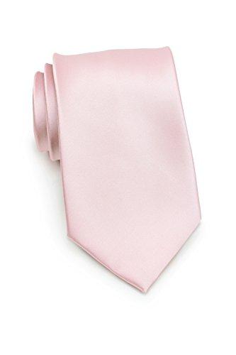 Puccini Uni Krawatte, Tie, Binder, Herrenkrawatte, Hochzeitskrawatte, Schlips, Plastron in 8.5cm breite (schmal-slim, einfarbig-unifarbig) (Blush - Hellrosa)