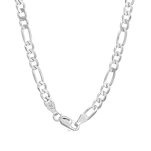 Authentic Solid Sterling Silver Figaro Link .925 ITProLux Necklace Chains 2MM - 10.5MM, 16' - 30', Silver Chain for Men & Women, Made In Italy, Next Level Jewelry