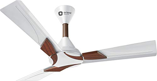 Orient Electric Wendy Shine 1200mm Ceiling Fan (Pearl White/Walnut)