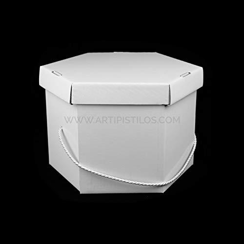 Artipistilos® hoedendoos wit 58 X 30 cm - wit - kartonnen dozen