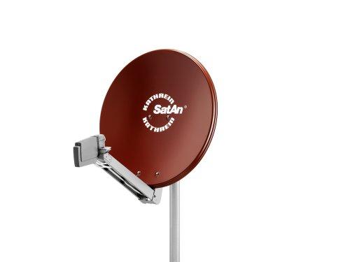 Kathrein CAS 80 Offset-Parabolantenne (Satelliten-Antenne, multifeedfähig) rot