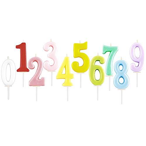 貝印 KAI キャンドル ろうそく 数字 セット 0~9 10個セット DL6001-DL6009