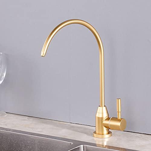 Grifo de cocina de ósmosis para agua potable directa Grifo purificado de acero inoxidable con una sola manija, B2