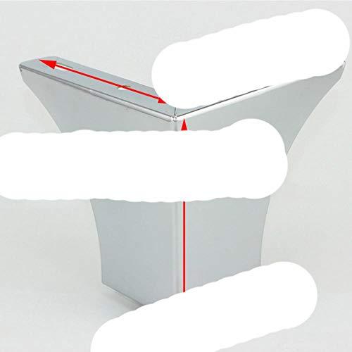 GJHGJ (Paquete de 4 Piezas) Patas cromadas para Soporte de Muebles, Acabado de Hierro, Armario, Mesa, sofá Cama, pies H = 100 mm-SL-H 100-1,0 mm