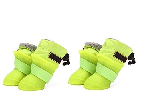 La Lluvia del Perro Casero Botas De Lluvia Botas De Agua Antideslizante De Silicona Zapatos Calientes Nieve De La Felpa para Mascotas para Perros Botas Medianas y Grandes Perros Pequeños