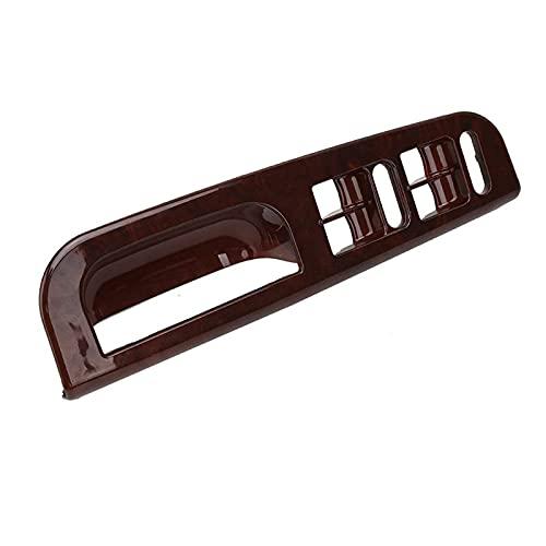 Qivor Cubierta del Ascensor del Ascensor del Ascensor de la Ventana Delantera de la Ventana Delantero Reemplazo del Bisel para el Golf para MK4 1998-2004 3B1867171E (Color : Brown)
