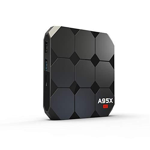 Android 10.0 TV Box, A95 R2 Android TV Box Quad-Core CPU 2 GB RAM 16 GB ROM Media Player Compatível com 3D / 4K / H.265 / USB 2.0/2.4G WiFi Smart TV Box