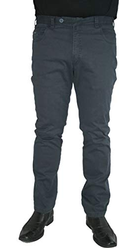 Marcello Marabotti Herren Stretch Thermohose Jeans Hose Thermo Miro 27-4941/10 Cotele dunkelblau, Herren-Größe:28