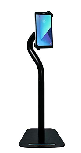 Premium Height-Adjustable Floor-to-Desk Security Kiosk Stand for Tablets