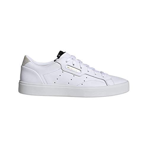 adidas Originals Women's Sleek Sneaker Crystal White, 9.5 M US