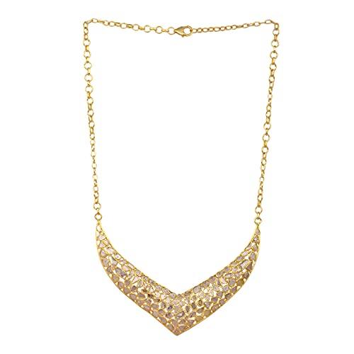16,00 CTW Collar de boda Polki de diamantes naturales Plata de ley 925 Chapado en oro de 14 K Desgaste étnico Rebanada Joyería de diamantes