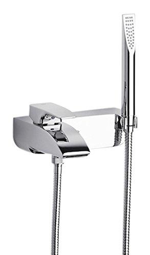 Roca Thesis - grifo monomando exterior baño y ducha con inversor automático, ducha de mano, flexible de 1,70 . Griferías hidrosanitarias Monomando. Ref.A5A0150C00