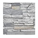 Faux Stone Wall Panel Sample - Deep Stacked Stone Wall Siding - Alpine...
