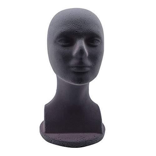 Dellefuture Weiblicher Schaum-Schaufensterpuppenkopf, Perückenhut-Kopfbedeckungs-Anzeigenmodell-Kopf-Form-Styling-Salon-Puppenkopf Mit Schultern Grau