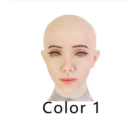 YAMEIJIA vrouwelijk masker latex silicone realistische menselijke huid maskers Halloween dansmaskerade mooi geslacht deken vrouwen meisjes,1