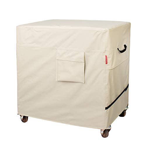 Porch Shield Waterproof 80-100 Qt Rolling Cooler Cart Cover Fits Most Patio Ice Chest Party Cooler Upto 43L x 22W x 32H inch