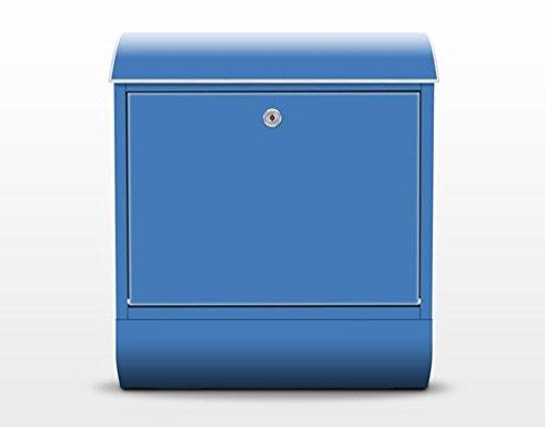 Design Briefkasten Colour Royal Blue, Postkasten mit Zeitungsrolle, 46cm x 39cm