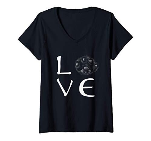 Mujer Gatos - bonito regalo para tu novia Camiseta Cuello V