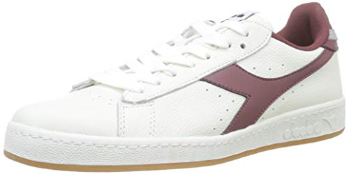 Diadora Game L Low, Sneaker Unisex Adulto, Bianco (BCO/Viola Mattone/Gr Pulviscolo C7917)), 41 EU