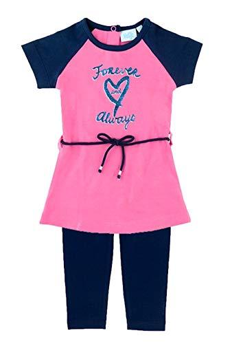 Feetje Baby Mädchen Set Kleid Forever Always Leggings (514.00159/522.00842) pink Navy Gr. 86
