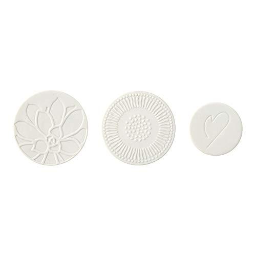 Villeroy & Boch - its my home Magnet Set 3tlg., dekoratives Set zum Verschönern des Kühlschranks, Premium Porzellan, grün, weiß, Handwäsche