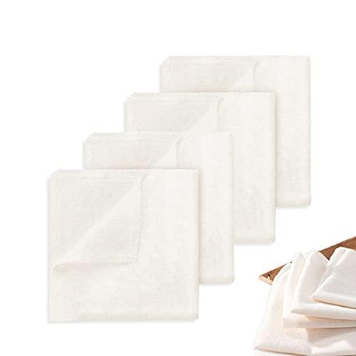 4 paños de filtro, 100 % algodón, paño multifunción, paño
