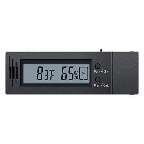 Digital Hygrometer and Thermometer, Briidea Humidity Temperature Monitor Humidor Guitar Ukulele Mason Jar