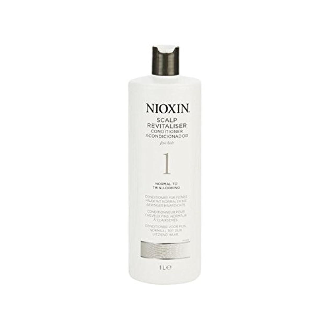 グロー荷物規範Nioxin System 1 Scalp Revitaliser Conditioner For Normal To Fine Natural Hair 1000ml (Pack of 6) - 細かい自然な髪千ミリリットルに、通常のためニオキシンシステム1人の頭皮コンディショナー x6 [並行輸入品]