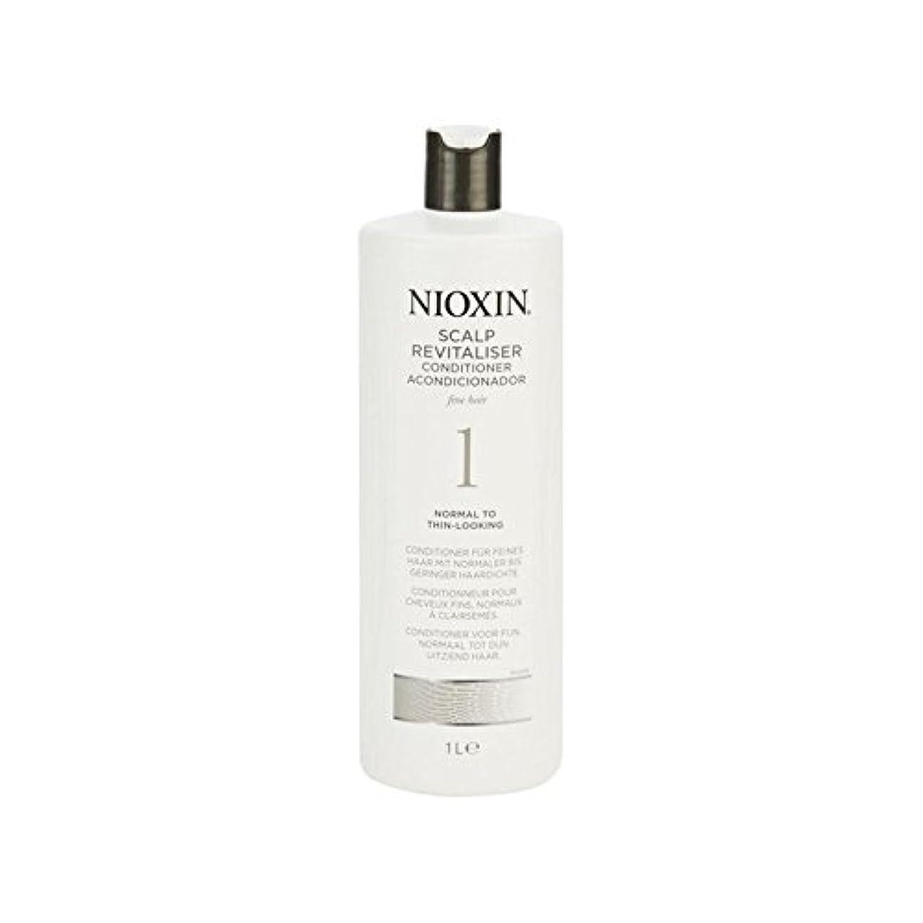 酔ったキュービックアリNioxin System 1 Scalp Revitaliser Conditioner For Normal To Fine Natural Hair 1000ml (Pack of 6) - 細かい自然な髪千ミリリットルに、通常のためニオキシンシステム1人の頭皮コンディショナー x6 [並行輸入品]