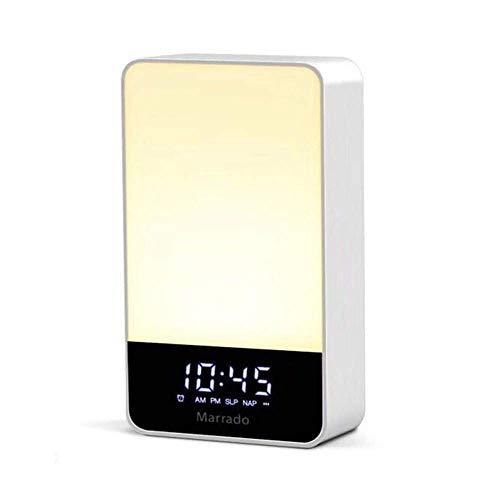 L.TSA Réveil électronique Réveil Réveil Lumière Lampe de Table Veilleuse Smart Touch Fonction de minuterie Mains Libres Auto Off Light