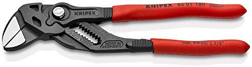Knipex 86 01 180 schwarz atramentiert 180 mm Zangenschlüssel, Zange und Schraubenschlüssel in einem Werkzeug, Rot