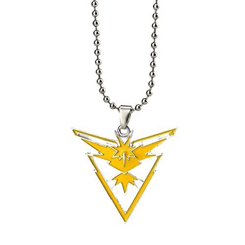 XKMY Collar de joyería de moda para niñas con diseño de anime y equipo de metal con logo de instinto místico para fanáticos (color metal: N737)
