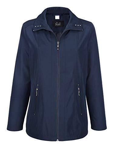 Paola Damen Jacke mit Umlegekragen in Marineblau mit gesteppten Details