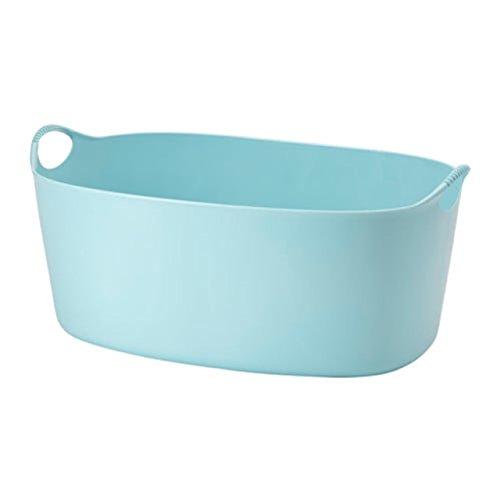 Ikea 803.392.24 Wäschekorb Torkis, Flexibler Wäschekorb in der Farbe Outdoor, Blau, 4 Stück