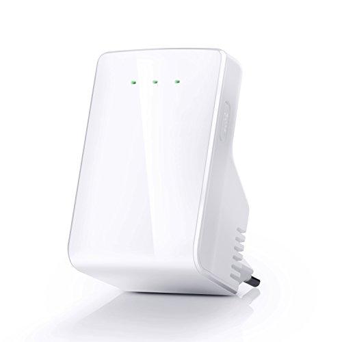 CSL - 300 Mbit Wlan WiFi Repeater Verstärker - 3x Betriebsmodi Repeater, Access Point, Router - mit LAN Port - 2,4 GHz WiFi - 802.11 b g n - WPA2, WPA, WEP 128 64-bit - WPS-Taste