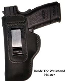 Pro Carry Springfield XDS LT CCW IWB Leather Gun Holster New Black Left Hand