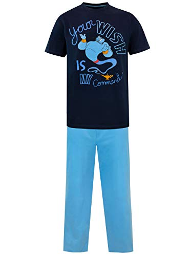 Disney Pijama para Hombre Aladdin Azul Size Large