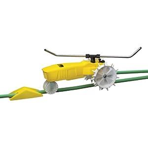 Nelson Traveling Sprinkler RainTrain 13,500 Square Feet Yellow (818653-1001)