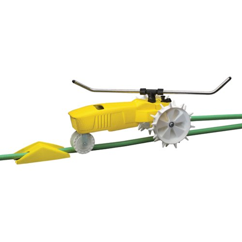 Nelson Traveling Sprinkler RainTrain 13,500 Square feet Yellow (818653-1001)