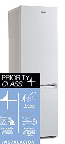Sauber - Frigorífico Combi SC183 - Eficiencia energética: A+ - 180,65x54,5cm - Color Blanco ENTREGA EN DOMICILIO