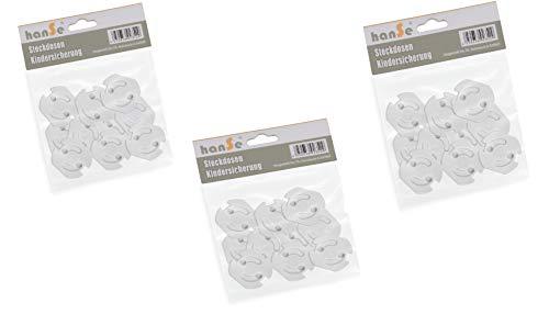 30 Stück Steckdosensicherung Kindersicherung Steckdosenschutz Steckdose Steckdosen zum Kleben mit Drehmechanik