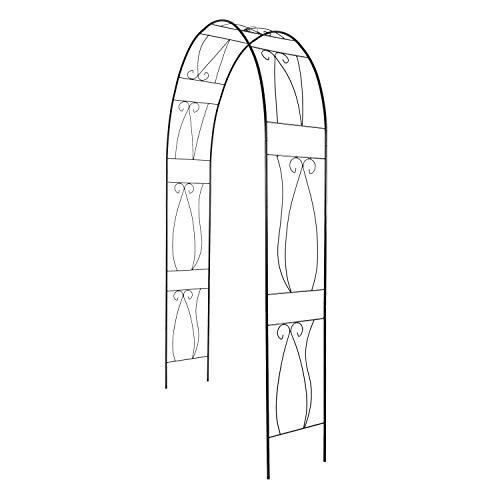 KINTNESS Garden Arch Arbor Arbour Trellis Steel Archway for Climbing Plants Outdoor Garden Lawn Backyard Patio