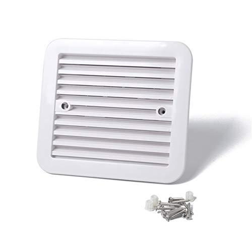Ventilador de Refrigeración para Vehículos Recreativos,Extractor de Refrigeración de Ventilador Lateral de Plástico Blanco 12V para Caravana y Camión de RV