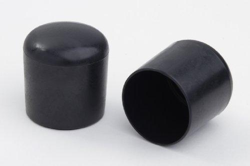 4 Stück Stuhlbeinkappe Stuhlbeinschutz Bodenschutz Stuhlschoner Kunststoff schwarz Durchmesser 25mm, für alle Böden im Innen- und Aussenbereich