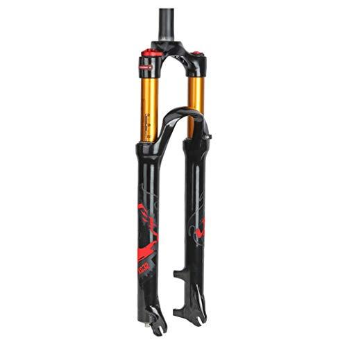 Forks 26/27.5/29 Zoll MTB Fahrradgabel Magnesiumlegierung Die Federgabel Zoom Die Gabel Leicht Einzubauen Starke Struktur Fahrradzubehör