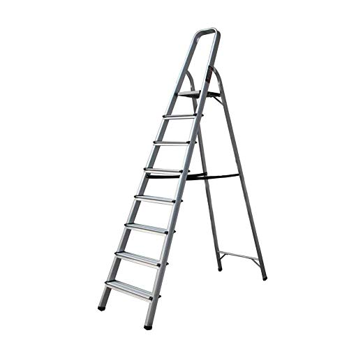 ladders 5 Tread Step Folding Lightweight Portable Aluminum with Safety Non-Slip Steps, Maximum Loading 150kg (Color : 8 Step)