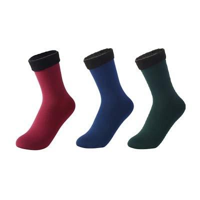 3 Pares de Calcetines cálidos de Invierno para Mujer, Calcetines Gruesos de Nailon térmico de Color sólido, Botas Suaves de Terciopelo para Nieve, calcetín Negro para Dormir en el Suelo-a3-35-40